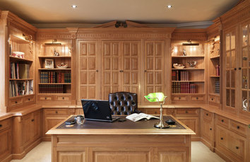 Bespoke Home Office Study Fitted Furniture Warwick